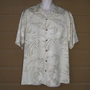 TOMMY BAHAMA Silk Shirt, S, Camp Hawaiian,